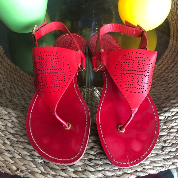 Tory Burch Shoes - Tory Burch Red Sandals